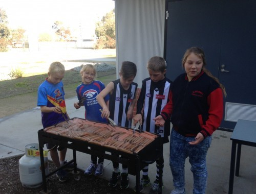 Football Colours Day Sausage Sizzle
